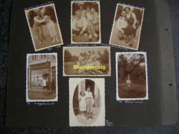 LOT VAN 14 OUDE FOTO'S PHOTO  1932 SCHOOTEN  CAPPELLENBOSCH KAPELLENBOS CAPELLEN KAPELLEN DE KOFFIETROMMEL PHOTO - Orte