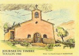 Philatélie       H12        Riboux ( B.Manmottans )      Journée Du Timbre De Toulon 1988 - Stamps (pictures)