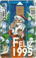 Spain - Cabiltel - Feliz 1995 Santa Claus On Booth - P-109 - 12.1994, 9.500ex, Mint (check Photos!) - España