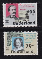 NEDERLAND, 1987, MNH Stamps, Authors, N1370-1371, #7074 - Period 1980-... (Beatrix)