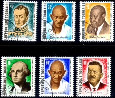 MAHATMA GANDHI & WORLD LEADERS OF PEACE-SET OF 6-CTO-TOGO-SCARCE-MNH-G-360 - Mahatma Gandhi