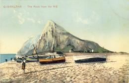 GIBRALTAR, The Rock From The NE, 2 Scans - Gibraltar