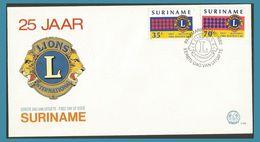 Surinam 1982 852 à 853 FDC Lions Club Du Surinam 25e Anniversaire Emblème Du Lions - Surinam