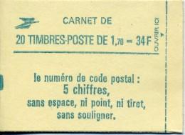 FRANCE 1984 Carnet N ° 2318- C1 ** Type LIBERTÉ DELACROIX 1.70Fr. Vert Cote : 23 Euros - Carnets