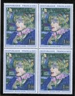 """FRANCE 1964-65 Un Bloc De Quatre (4) YT N° 1426 - La Serveuse Anglaise Du """"Star"""" Au Havre Toulouse-Lautrec - Frankrijk"""