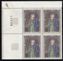 FRANCE 1964- 1 Bloc (4) YT N° 1424 - Plaque Tombale Email Champlevé Limousin Geoffroy IV Le Bel Plantagenet CDF N° - Frankrijk