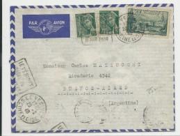 1940 - DESTINATION - ENVELOPPE AIRMAIL De LE VESINET AVEC DAGUIN Pour BUENOS AIRES (ARGENTINE) - MERCURE - Postmark Collection (Covers)