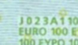 S  ITALIA 100 EURO J023 A1 -  FIRST POSITION - TRICHET   UNC - EURO