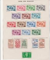 COTE DES SOMALIS - N° 234 A 253  NEUF X - ANNEE 1943-44  COTE : 19,10 € - Somalie (1960-...)