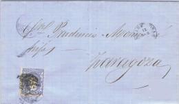 18382. Carta Entera BARCELONA 1870. Alegoria. Fechador Y Mataellos Puntas Limadas - Cartas