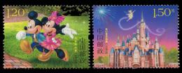 2016-14 CHINA DISNEY-SHANGHAI OPEN COMM.STAMP 2V - Disney