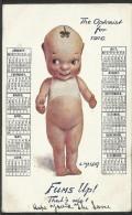 Postcard With 1916 Year Calendar - Cartolina Con Calendario Del 1916 - Calendari
