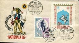 10016  Romania,  Special Cover 1966 Expoziita Filatelica Nationala 66 Bucuresti - 1948-.... Republics