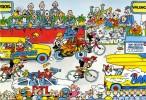 """CYCLISME  """" TOUR DE FRANCE 1984  / BANANIA  """" ETAPE N° 3  """" ILLUSTREE PAR GUERRIER  CPSM / CPM  10 X 15   TTBE - Illustrateurs & Photographes"""