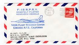 LETTRE - EDWARDS A.F.B / NASA Flight Research Center - F-15  R.P.R.V - 14/08/1975 - Airplanes