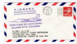 LETTRE - EDWARDS A.F.B / NASA Flight Research Center - F-15  R.P.R.V - 15/08/1975 - Airplanes