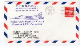 LETTRE - EDWARDS A.F.B / NASA Flight Research Center - F-15  R.P.R.V - 29/08/1975 - Airplanes