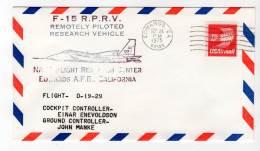 LETTRE - EDWARDS A.F.B / NASA Flight Research Center - F-15  R.P.R.V - 24/09/1975 - Airplanes