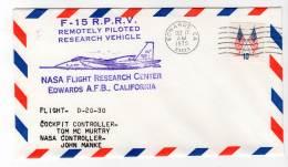 LETTRE - EDWARDS A.F.B / NASA Flight Research Center - F-15  R.P.R.V - 17/10/1975 - Airplanes
