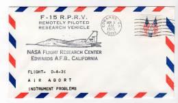LETTRE - EDWARDS A.F.B / NASA Flight Research Center - F-15  R.P.R.V - 05/11/1975 - Airplanes
