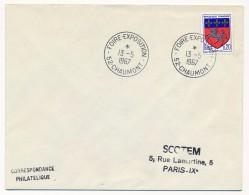 """Enveloppe - Cachet Temporaire """"Foire Exposition - 52 CHAUMONT"""" - 13-5-1967 - Marcophilie (Lettres)"""