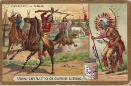 CHROMO LIEBIG CAVALIERI CAVALIER INDIANI INDIEN SERIE ITALIENNE - Liebig