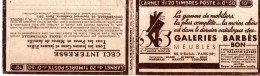 Carnet Vide Avec Publicité Galeries Barbès  (quelques Bandes Pub, Non Collés)   2 Scans - Carnets