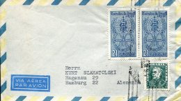 10034 Brasil, Cover Circuled  1958 With 2 Stamps 21 Cr.  Malaria, , Circuled Cover - Medicine
