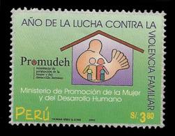 E)200O PERU, CAMPAIGN AGAINST DOMESTIC VIOLENCE, PROMUDEH, FAMILY, 1259 A578, MNH - Peru