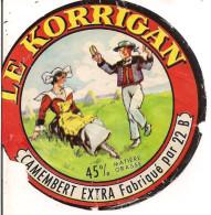 ETIQUETTE CAMEMBERT LE KORRIGAN USINE 22 B - Formaggio