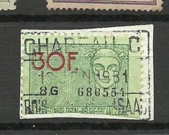 BELGIEN Belgium O 1961 Revenue Tax Steuermarke - Stamps