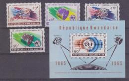 Rwanda 1965 UIT / Space 4v + M/s  ** Mnh (30387) - Rwanda