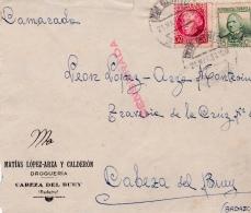 03229 Carta A Cabeza Del Buey (Badajoz)-correo Campaña Batallon 77- CC Nro 7 - 1931-50 Brieven
