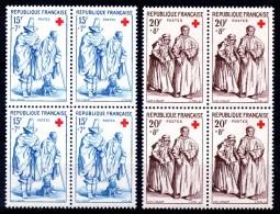 FRANCE - YT N° 1140-1141 Blocs De 4 - Neufs ** - MNH - Cote: 46,00 € - Croix Rouge - Neufs