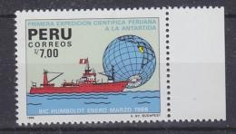Peru 1988 1st Scientific Antarctic Expedition 1v (+margin) ** Mnh (30389) - Peru