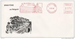 EMA Sur Enveloppe : Brantôme N° NE 56025 (En Dordogne-Périgord) Du 09-08-1984 - EMA ( Maquina De Huellas A Franquear)