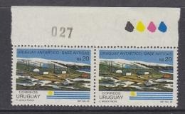 Peru 1986 Antarctic Base Artigas 1v  Pair, Traffic Lights, Sheet Number ** Mnh (30390A) - Peru