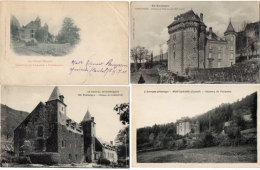 FONTANGES - 4 CPA - Chateau De PALMONT (2) - Chateau De LAMARGE (2)  (88369) - Frankrijk