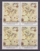 Peru 1989 100e Anniversario De La Sociedad Geografica De Lima 1v Bl Of 4 ** Mnh (30392) - Peru