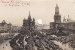 RUSSIE RUSSIA URSS  :  Photo D'un Rassemblement Politique Place Rouge à Moscou En 1931 - Russland