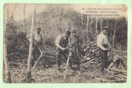 """COETQUIDAN , 2 CP ,Guerre Européenne 1914,1915 ,Forêt De Paimpont, Prisonniers Allemands, Et """"Pon Choucroute"""" - Autres Communes"""