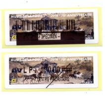 2016 LISA 2 / 70ème Anniversaire Du Musée De La Poste - 2010-... Illustrated Franking Labels