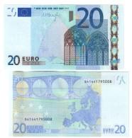 Italia 20 €  Draghi J036 Da Mazzetta Fds  Cod.€.203 - EURO