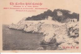 Cp , 13 , MARSEILLE , The Carlton-Hôtel-Corniche , 395bis, Promenade De La Corniche , Vue Prise De La Mer - Endoume, Roucas, Corniche, Beaches