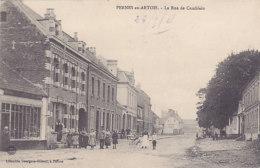 62 - Pernes-en-Artois - La Rue De Camblain (belle Animation, Librairie Bourgeois-Gilbert) - Autres Communes