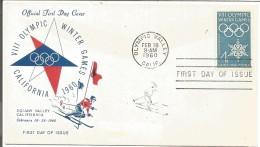 USA LETTRE JEUX OLYMPIQUE D'HIVER SQUAW VALLEY 1960 - Omslagen Van Evenementen