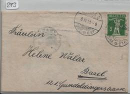 1911 Tellknabe / Fils De Tell Nr. 125II Brief Mit Konfirmations Karte - Suisse