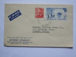 AUSTRALIAN ANTARCTIC TERRITORY GEORGE VI AIR MAIL COVER TO LONDON - Brieven En Documenten