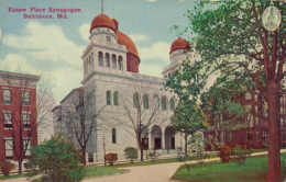 US BALTIMORE / Eultaw Place Synagogue /  CARTE COULEUR GLACEE - Baltimore