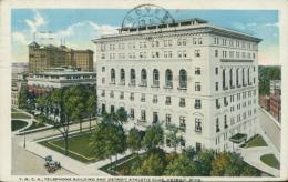US DETROIT / Y.M.C.A Telephone Building And Detroit Athletic Club  / CARTE COULEUR - Detroit